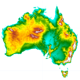 Dem H Australian Srtm Hydrologically Enforced Digital Elevation